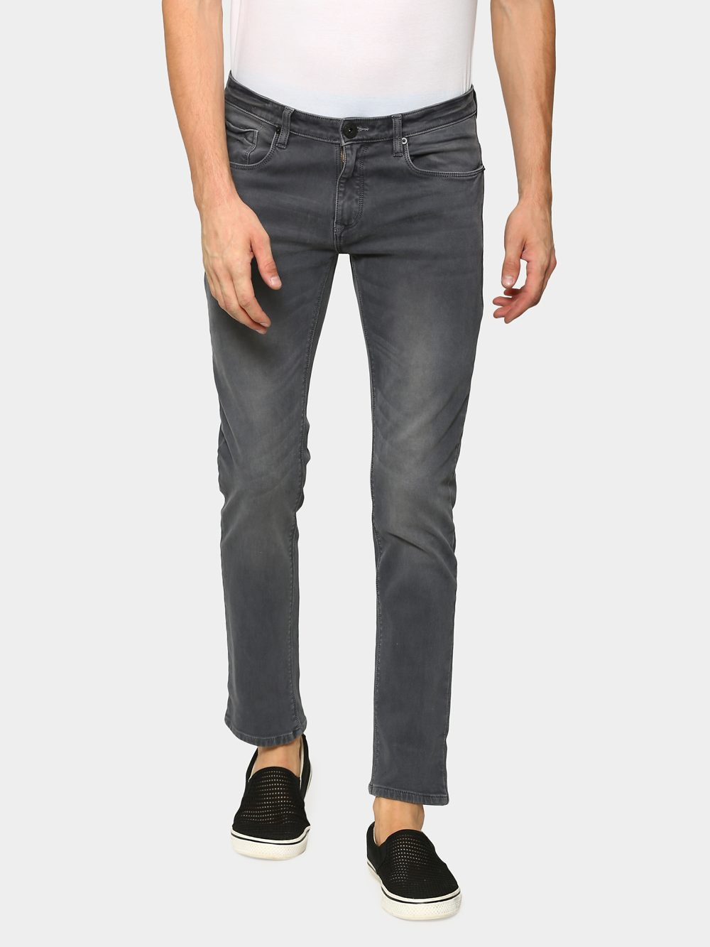 530dace6c1ed abof Jeans, abof Men Grey Cloud Wash Slim Fit Jeans for Men at ABOF